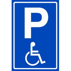 Invalide parkeerplaats bordje