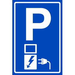 Elektrische voertuigen parkeren bordjes