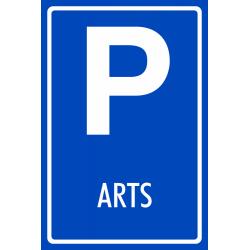 Parkeerplaats arts bordjes