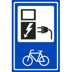Laadpunt fiets bordjes