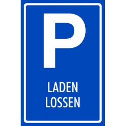 Laden en lossen parkeerplaats bordjes