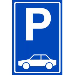 Parkeerplaats auto bordjes