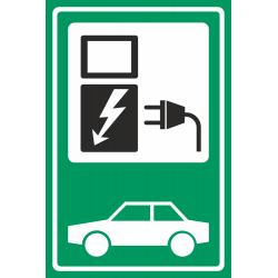 Laadpunt voertuig groene bordjes