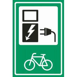 Laadpunt fiets groene bordjes