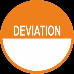 Deviation keuringsstickers beschrijfbaar