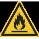 Ontvlambare stoffen stickers