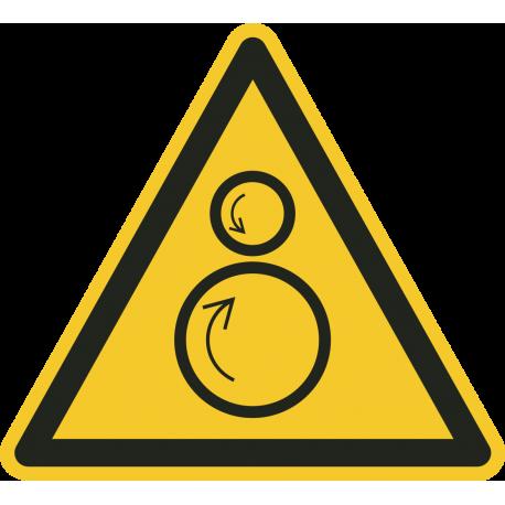 Roterende onderdelen stickers