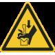 Handverbrijzeling tussen buigbank stickers