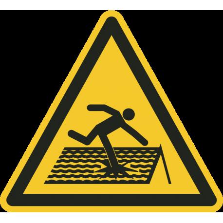 Instortingsgevaar dak stickers
