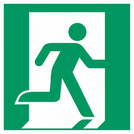 Nooduitgang (rechts) stickers