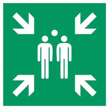 Verzamelplaats bij evacuatie stickers