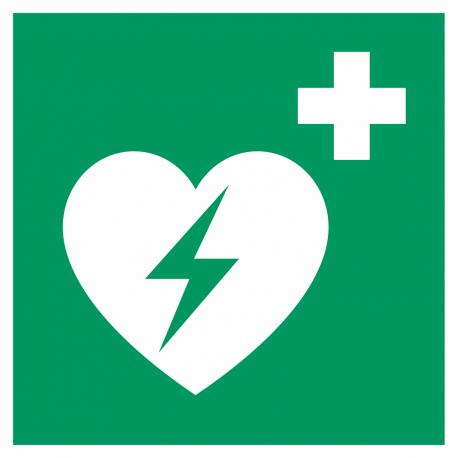 Automatische externe defibrillator (AED) stickers