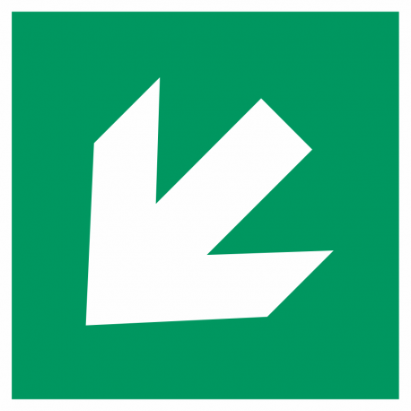 Richtingaanwijzing links omlaag stickers