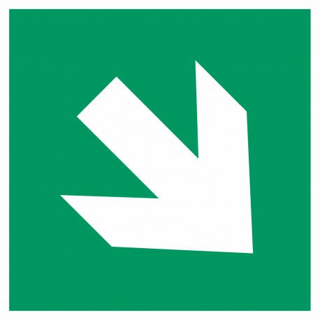 Richtingaanwijzing rechts omlaag stickers