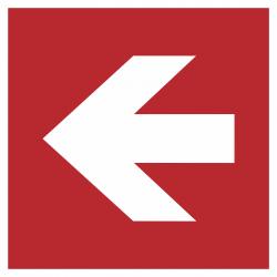 Richtingaanwijzing links stickers (rood)