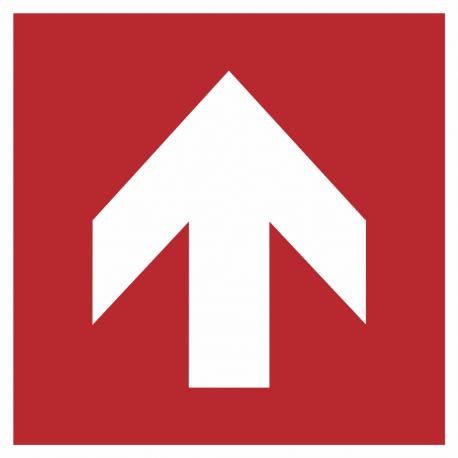 Richtingaanwijzing omhoog stickers (rood)