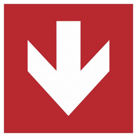 Richtingaanwijzing omlaag stickers (rood)