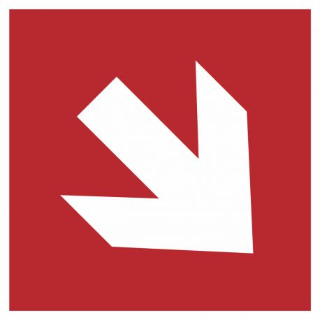 Richtingaanwijzing rechts omlaag stickers (rood)
