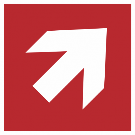 Richtingaanwijzing rechts omhoog stickers (rood)
