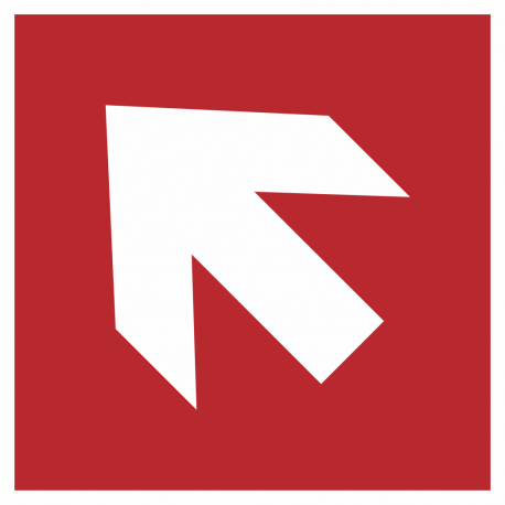 Richtingaanwijzing links omhoog stickers (rood)