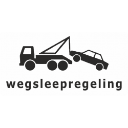Wegsleepregeling sticker (wit)
