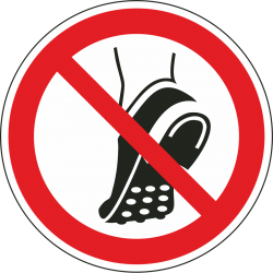 Uitzonderlijk Geen schoenen met metalen noppen dragen