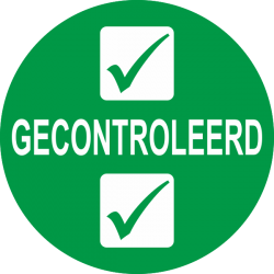 Gecontroleerd keuringsstickers