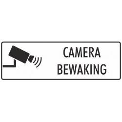 Camera bewaking bordjes (wit)