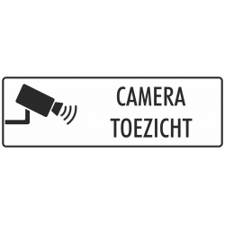 Camera toezicht bordjes (wit)