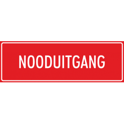 'Nooduitgang' stickers (rood)