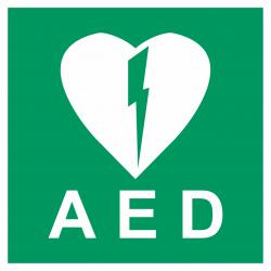 AED luminescerende stickers